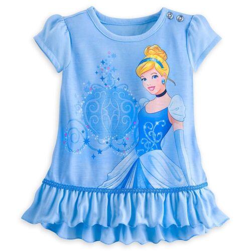 Disney Store Princess Cinderella 2 PC Short Sleeve Pajama Set Girl Size 5//6 7//8