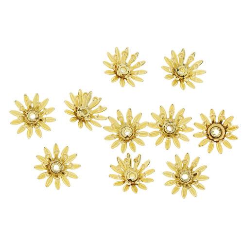 Großhandelslose gemischte 100pcs Kupferlegierungs Blumen Korn Kappen