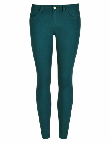 Pink or Green Jegging Jeans 10 12 14 M/&S LTD EDITION Supersoft Skinny Claret