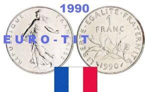 J47P-FRANCE-1-FRANC-1990-SEMEUSE-ASSEZ-RARE