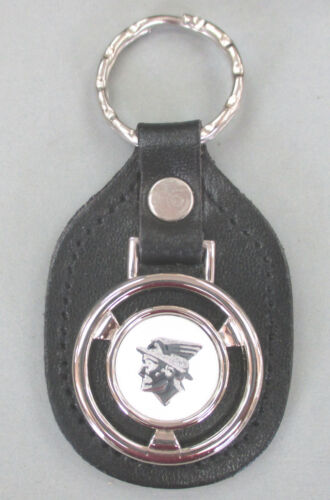 Vintage White Mercury MESSENGER Steering Wheel Black Leather Key Ring Key Fob