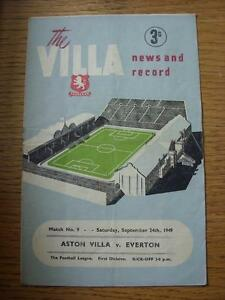 24-09-1949-Aston-Villa-v-Everton-faint-creasing-folding-amp-rusty-staple-remove