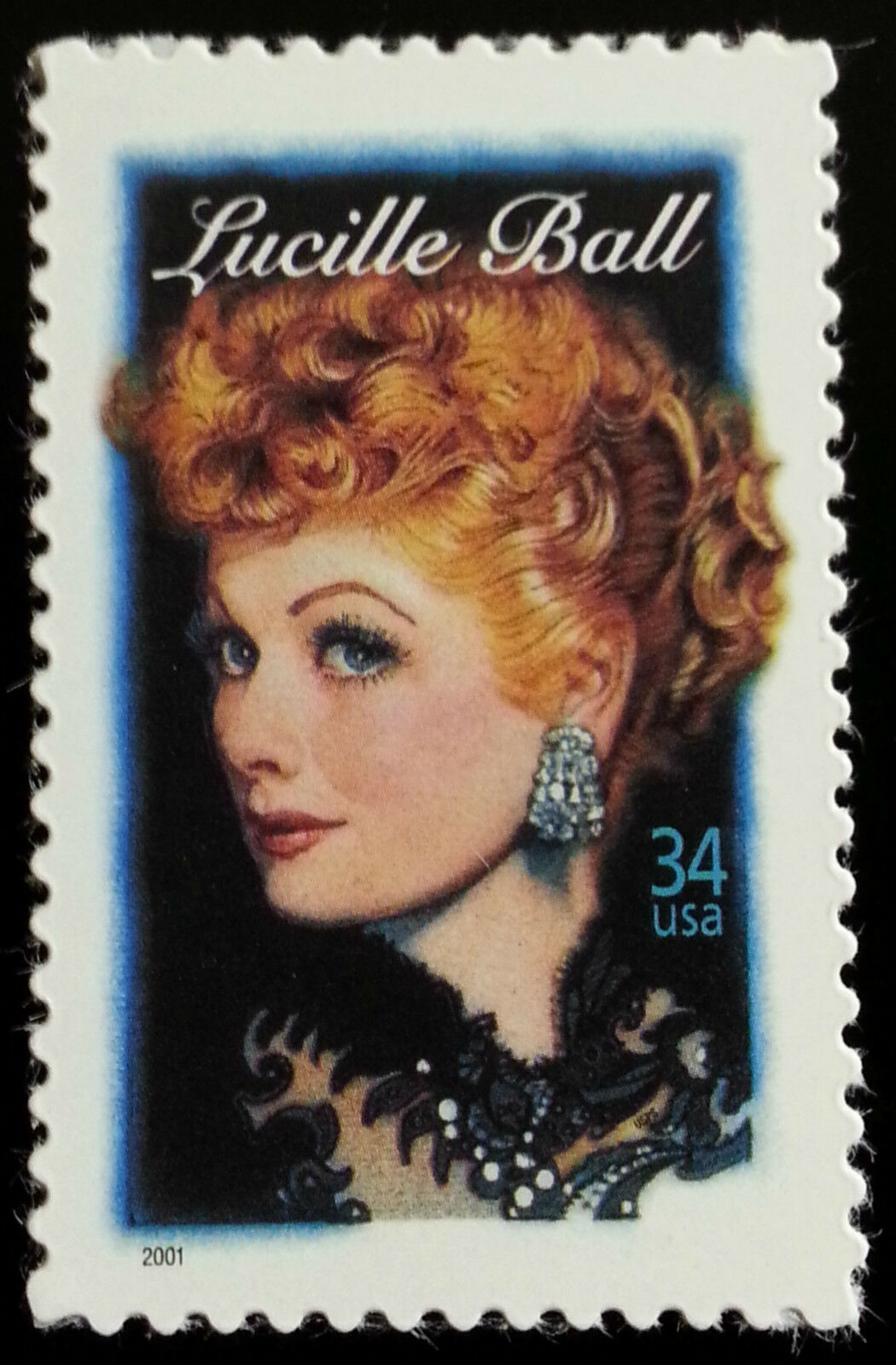 2001 34c Lucille Ball, Legends of Hollywood Scott 3523