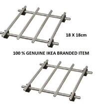 IKEA Lamplig Trivet Stainless Steel Kitchen Hot Pan Pot Stand Holder 18x18cm