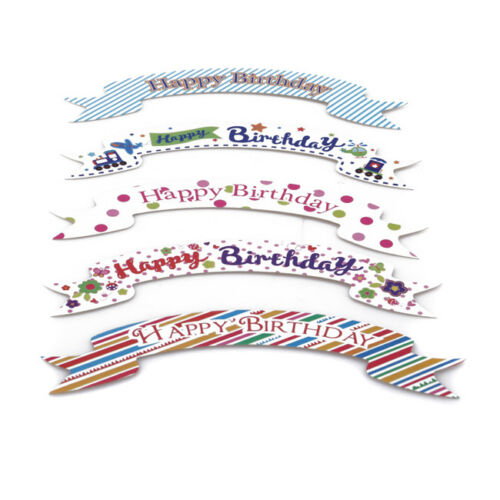 5X Happy Birthday Cake Topper Kids Decorating Card Cupcake Topper Decor D