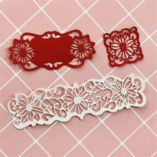 6pcs//set Flowers Metal Cutting Dies For DIY Scrapbooking Album Paper Cards MW
