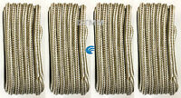 (4) Gold/white Double Braid 5/8 X 25' Boat Marine Hq Dock Lines Mooring Ropes