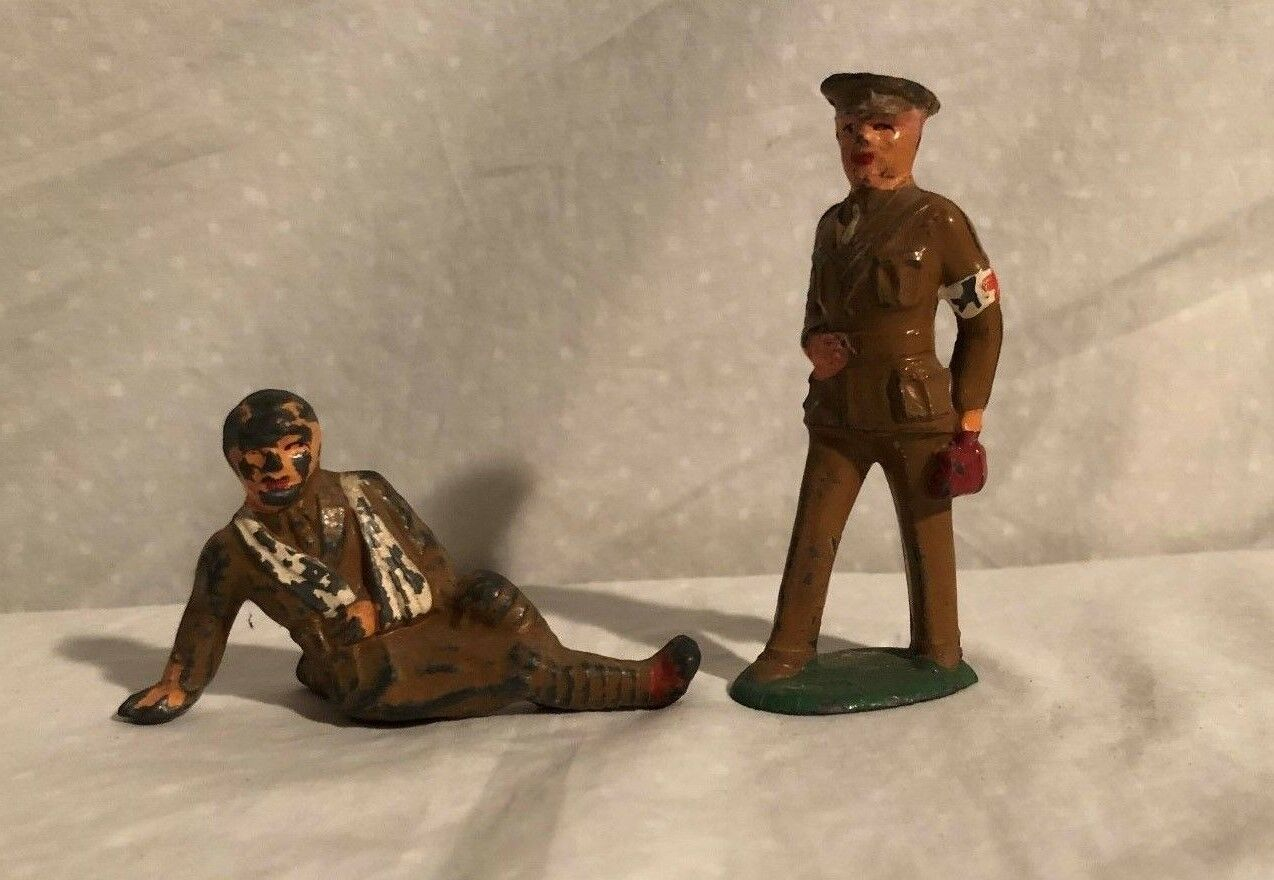 Barclay Manoil Wounded Soldier and Army Doctor Doctor Doctor Lead Toy Soldiers d14d39