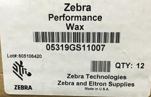Zebra 05319GS11007 Wax Ribbon 4.33inx242ft 5319 Performance 0.5in core Thermal