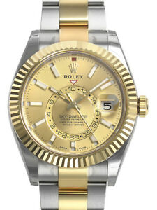 Rolex-Sky-Dweller-326933-Two-Tone-Steel-amp-Yellow-Gold-Champagne-Index-Dial-42mm