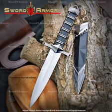 """11.5"""" Dark Assassin Medieval Dagger Short Sword Blade with Sheath LARP Cosplay"""