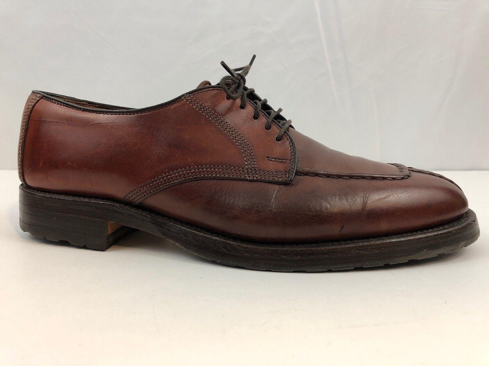 Allen Edmonds Dellwood Mens Brown Leather Split Toe Oxford Dress Casual shoes 9D