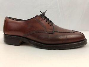 Allen-Edmonds-Dellwood-Mens-Brown-Leather-Split-Toe-Oxford-Dress-Casual-Shoes-9D