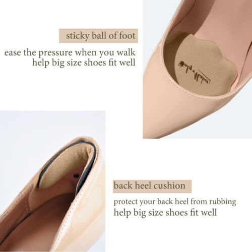 Women Forefoot Cushion Half Insoles Liners Anti-Slip High Heel Shoe Pads Inserts