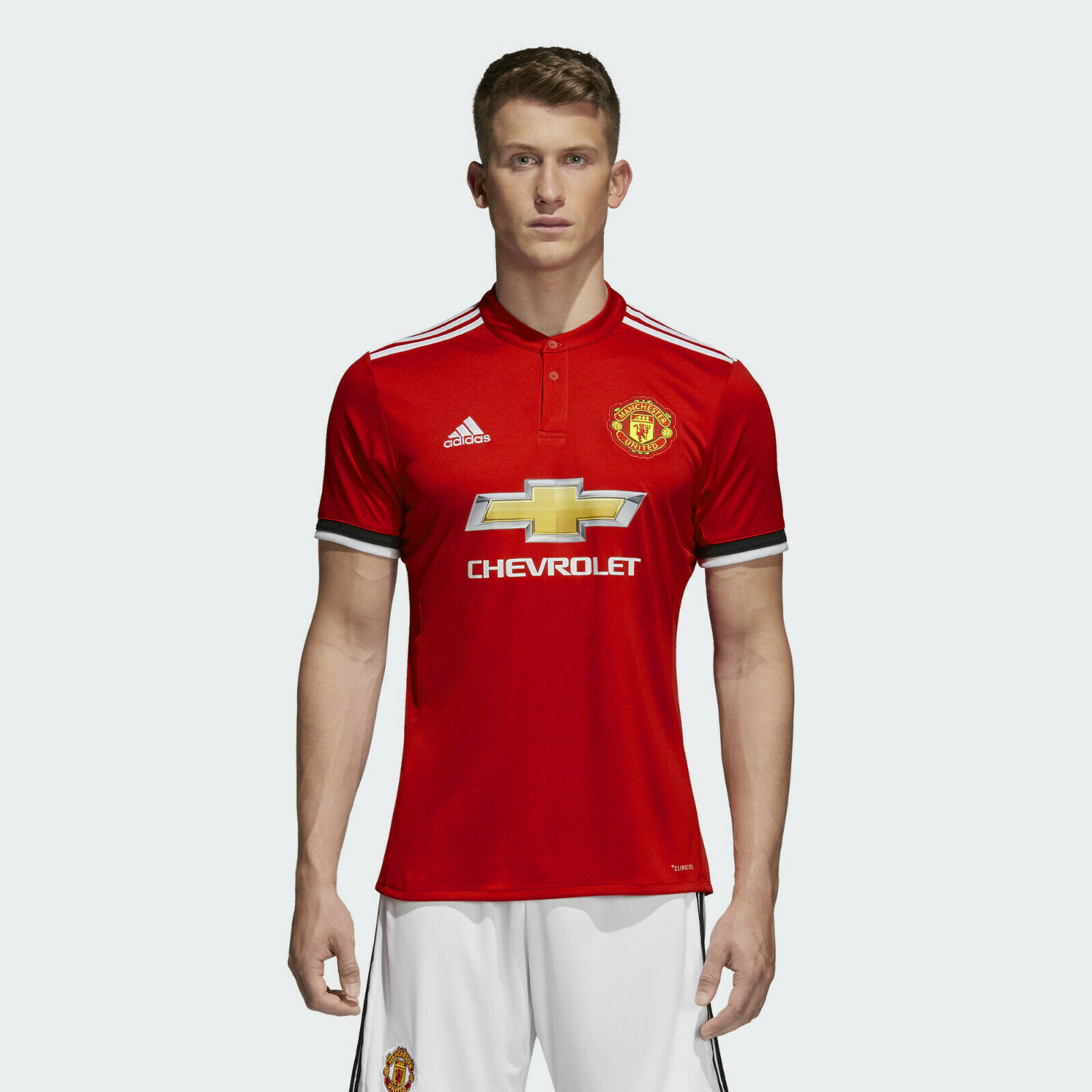 Adidas Manchester United Home 2017 18  Para Hombres Camisa De Fútbol Talla M  Disfruta de un 50% de descuento.