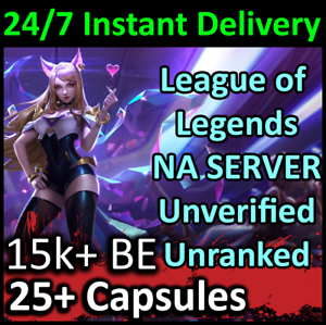 League-of-Legends-Unranked-Account-15-000-Blue-Essence-21-Capsules
