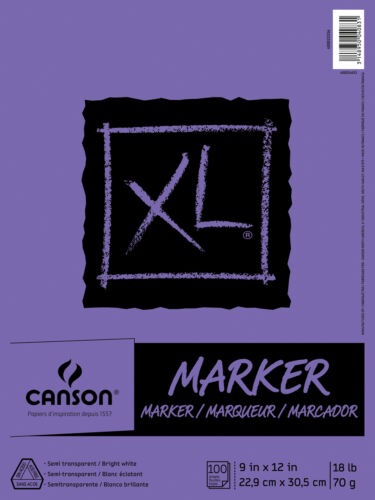 """CANSON 400023336 XL C 9/"""" X 12/"""" MARKER PAD FOLD OVER"""