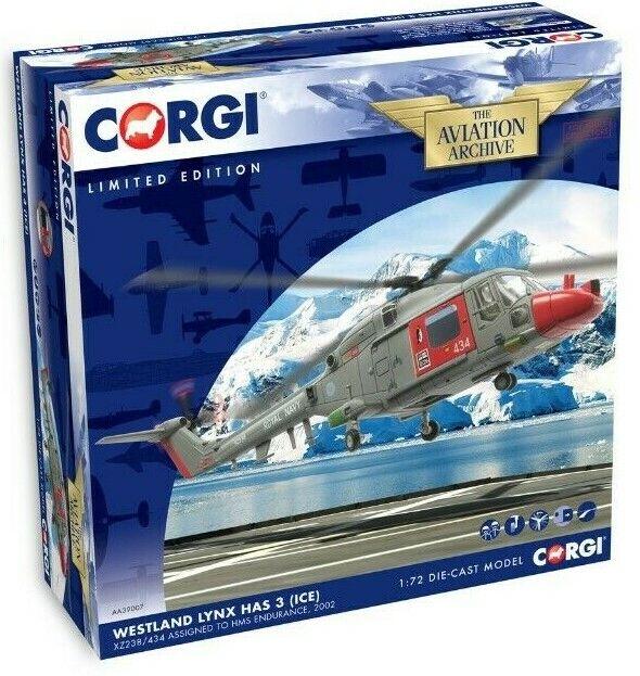 Nuevo 1 72nd Escala Corgi Westland Lynx HAS3 (ICE) Modelo Diecast XZ238 434.