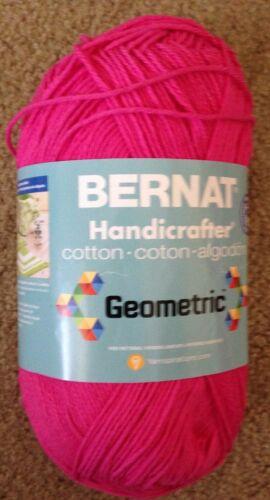 1 skein Bernat Handicrafter Cotton 12oz GEOMETRIC Pumped Up Pink or Intense Blue
