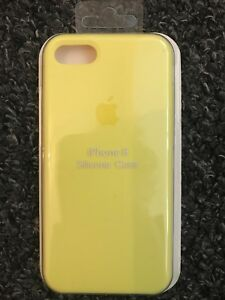 check out 82e86 fec2b Details about Apple iPhone 7/8 Silicon Case Superb Handling *Genuine* Apple  Cover-Yellow Flash