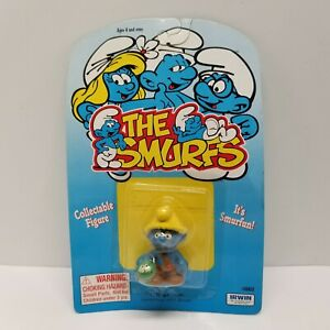 Smurfs-NAT-Smurfling-Caterpillar-Schleich-Applause-Figure-PVC-Toy-Figurine-RARE