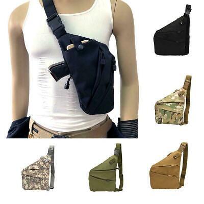 Mens Concealed Chest Bag Pack Messenger Shoulder Bag Backpack Right //Left