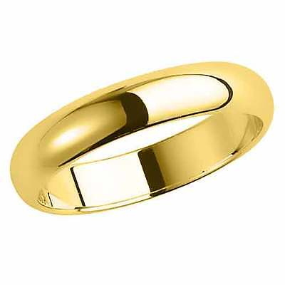 Brand New Hallmarked 9ct Yellow Gold Wedding Ring Band D Shaped