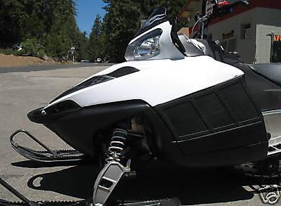 polaris iq dragon snowmobile white 2 side vent kit