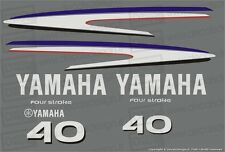 Adesivi calandra motore marino fuoribordo Yamaha 40 cv F40 gommone barca
