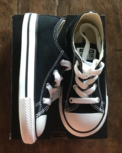 Converse Chuck Taylor All Star Ox TD Toddler 7 J 235 Baby Shoes Black Size 9