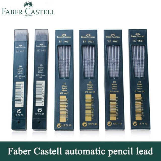 Faber-Castell TK 9400 Clutch Drawing Pencil Leads F pack of 10
