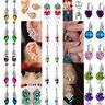 Chic Women's Long Tassel Design Silver/Gold Plated Crystal Hook Earrings Jewelry