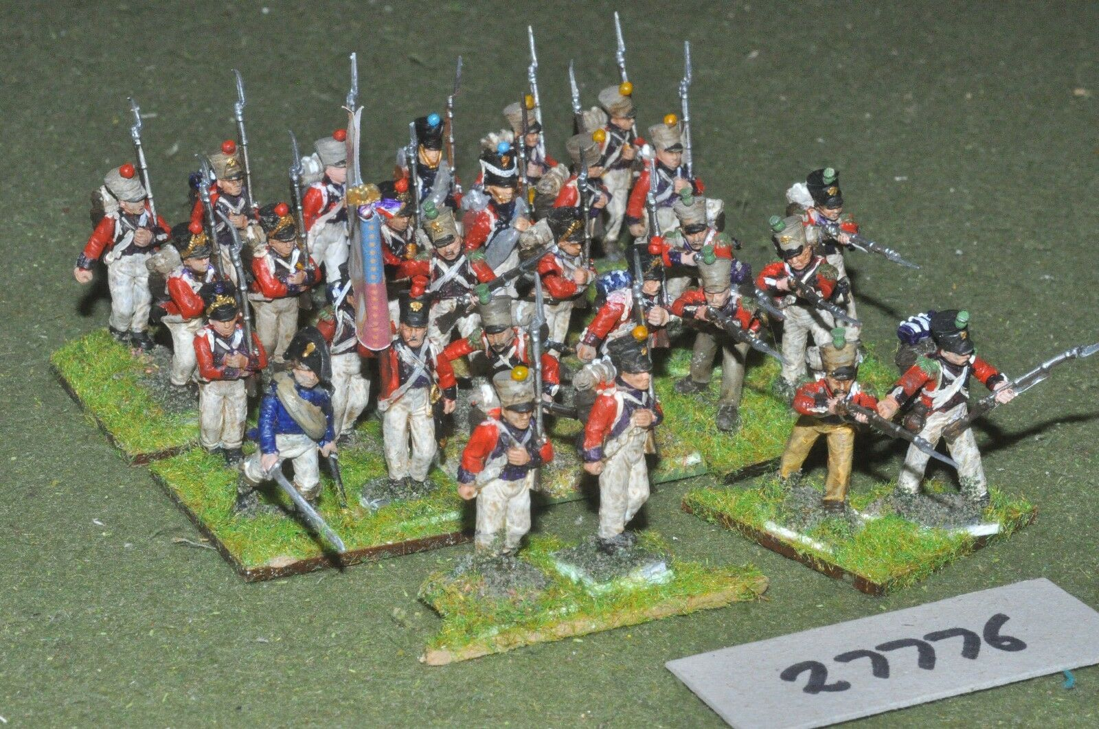 25mm napoleonic   french - swiss regiment 24 figures (plastic) - inf (27776)