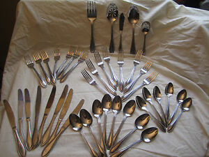 International Stainless China 42 Piece Flatware Set