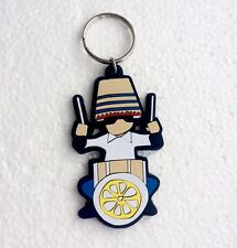 The Stone Roses Drummer 'Reni' Keyring. A Guy Called Minty, Rosso Bianco Nero..