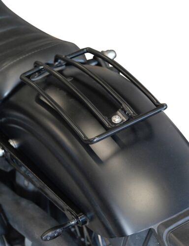 Schwarzer Gepäckträger 33x15cm Custom Bike Motorrad Gepäckhalter schwarz