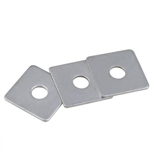 Vierkantscheiben Quadratische Platte Unterlegscheiben Edelstahl A2 M3//4//5~M16