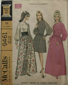 McCalls-9461-Misses-Dress-In-3-Versions-Pattern-12-14-BUST-34-36