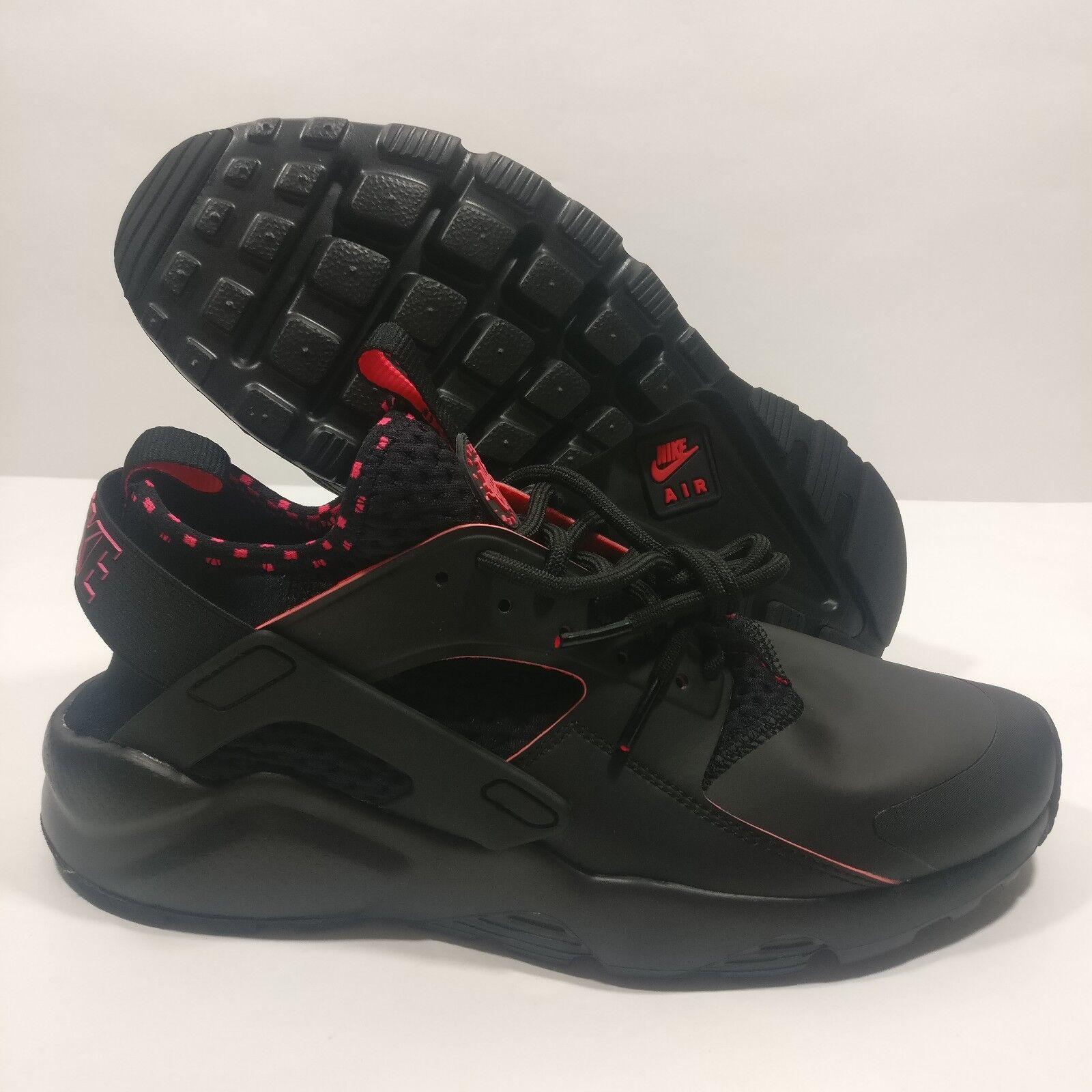 Mens Nike Air Huarache Run Ultra SE shoes Black Red 875841-005 Size 9.5