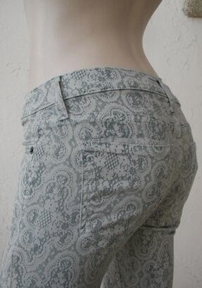 NWT Current Elliott The ankle skinny jeans in light grey antique lace