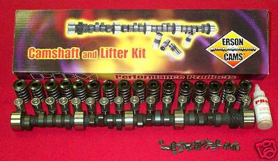 "Hyd Flat Tappet .465/""//.488/"" 224*//234*@.050/"" 112* LC SBC Erson Cam /& Lifter Kit"