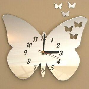 papillons-dans-Horloge-acryliques-miroirs-plusieurs-tailles-disponibles