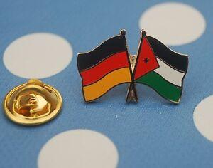 Freundschaftspin-Deutschland-Jordanien-Pin-Button-Badge-Anstecker-Anstecknadel
