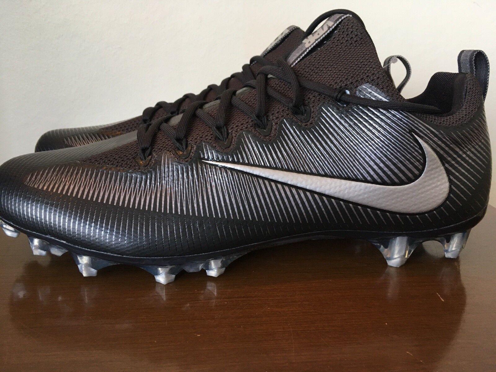 Neue nike vapor unantastbar profi - football - stollen schwarz schwarz schwarz silber 833385-002 größe 15. 6151e6