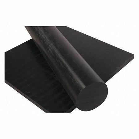 "1//4/"" Dia. POLYMERSHAPES 2XPC6 Black Extruded Nylon 6//6 Rod Stock 3 ft L"
