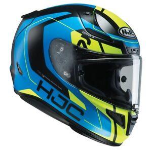 HJC-RPHA-11-Chakri-Blue-amp-Fluo-Full-Face-Sports-Motorcycle-helmet-ZE