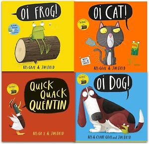 Kes-Gray-Collection-4-Books-Set-Oi-Frog-Dog-Quick-Quack-Quentin-Childrens-Book