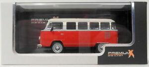 Premium-X-1-43-escala-PRD344-1976-Volkswagen-tipo-2-Kombi-Rojo-Blanco