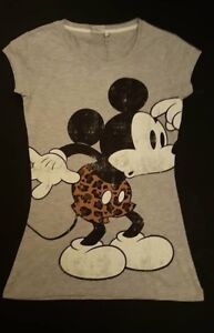 PRIMARK-LADIES-GIRLS-FITTED-DISNEY-MICKEY-MOUSE-T-SHIRT-TOP-TEE-UK-12-NEW