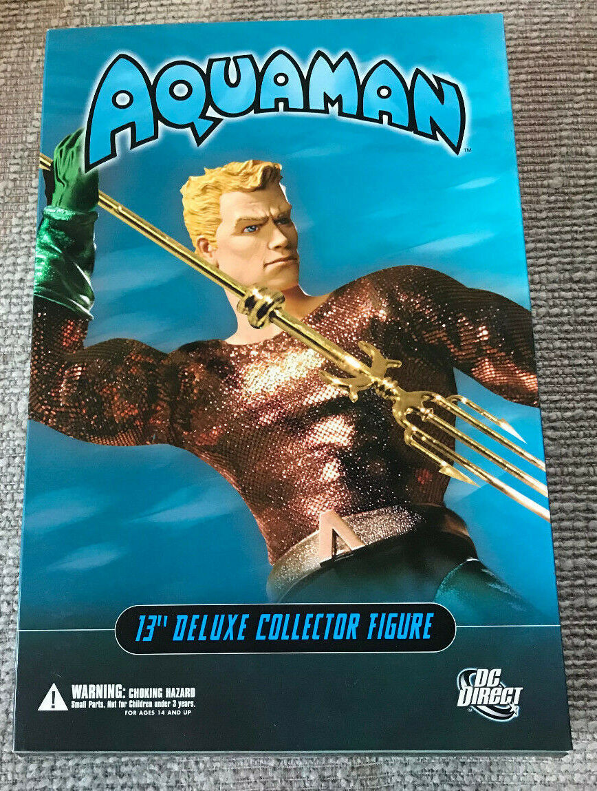 DC DIRECT 13  DELUXE COLLECTOR EDITION AQUAMAN WITH BOX 1 6 SCALE